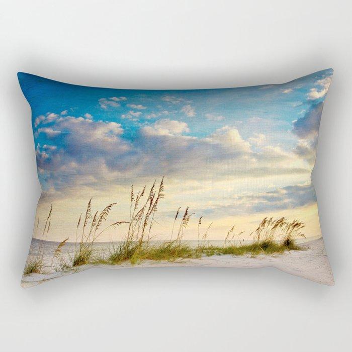 Sea Oats Beach Sunset Rectangular Pillow