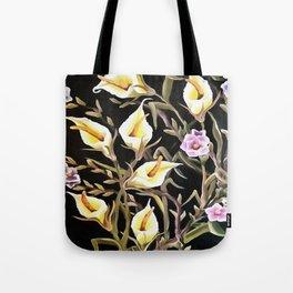 Arum Lily Artistic Floral Design Tote Bag