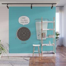 Cookie love milk Wall Mural