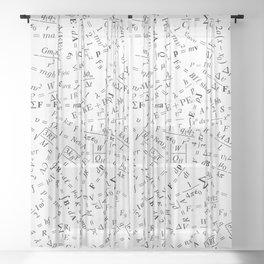 Equation Overload II Sheer Curtain