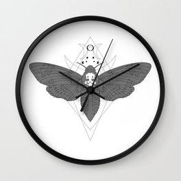Death's Head Moth Wall Clock