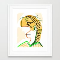 actor Framed Art Prints featuring actor 3940 by Matt Vaillette