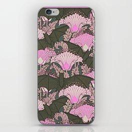 VINTAGE BATS & PINK LILIES ART iPhone Skin