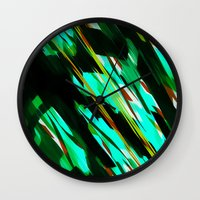 camo Wall Clocks featuring CAMO BRONX by Chrisb Marquez