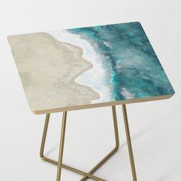 Waves, Beach, Ocean, Blue, Sandy Side Table