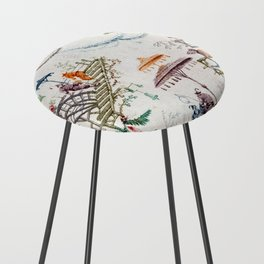 Enchanted Forest Chinoiserie Counter Stool