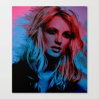 britney spears Canvas Prints featuring Britney Spears by Nic Moore