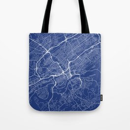 Knoxville Map, USA - Blue Tote Bag