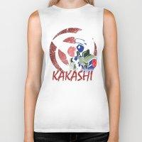 kakashi Biker Tanks featuring KAKASHI by BradixArt