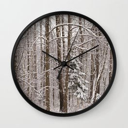 The winter graphics Wall Clock