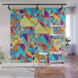 Summer Beach Splash Pattern Wall Mural