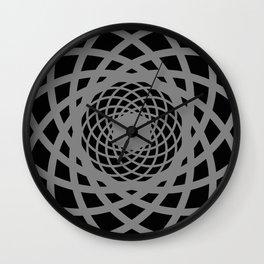 Circle rectangles round pattern Design grey Wall Clock
