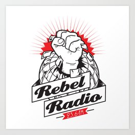 Rebel Radio Art Print