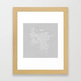 LARU Grey Framed Art Print