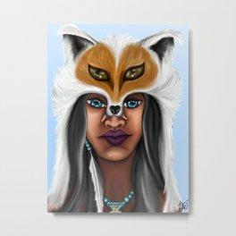 Native American Beauty Metal Print
