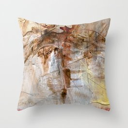 Earthbound // acrylic modern abstract painting Throw Pillow
