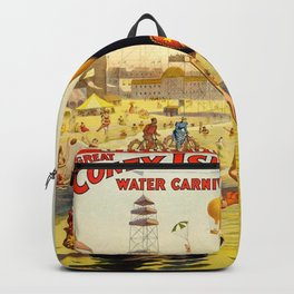 The Great Coney Island Water Carnival – Barnum & Bailey Circus Poster Backpack