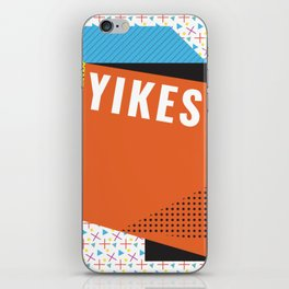 Bright Memphis Throwback Retro 1990s 80s Trendy Hipster Pattern Coral iPhone Skin