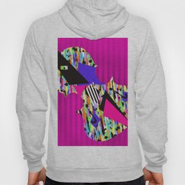 Cello Abstraction on Hot Pink Hoody