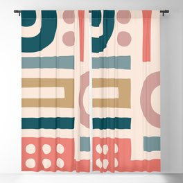 Mid Century Modern Abstract Composition 115 Blackout Curtain