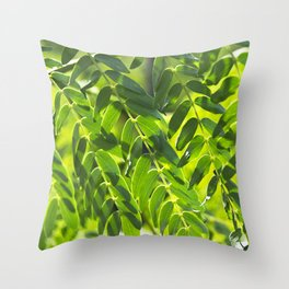 Sunny Leaves Throw Pillow