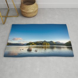Ducks on Lake Derewentwater near Keswick, England Rug