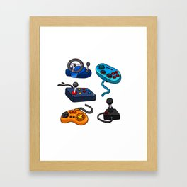 Video Game  Controls Framed Art Print