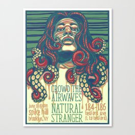Crowd the Airwaves  - Spike Hill Gig Poster Canvas Print