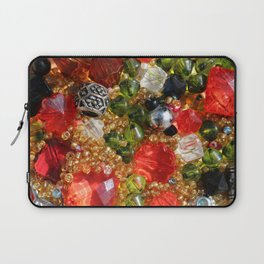 Shiny colorful beads abstract background Laptop Sleeve
