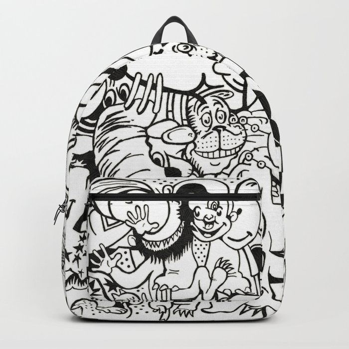 Coloring Page For Literacy Backpack