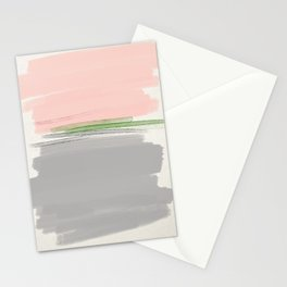 grey + pink + green Stationery Cards