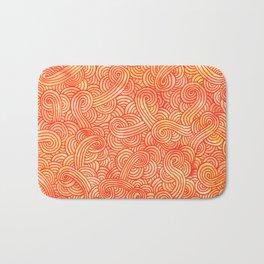 Red and orange swirls doodles Bath Mat