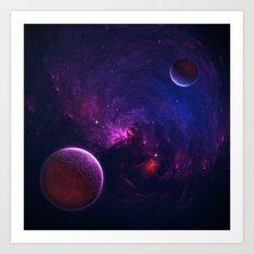 Abstract Fractal Design 11 - Space and Dark Matter Absorption Art Print