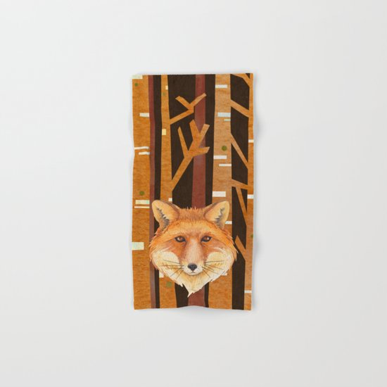 Fox Wild animal in the forest- abstract artwork Hand & Bath Towel