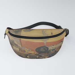 retro  Gdynia vintage poster Fanny Pack