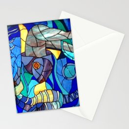 Stained Glass Fish, Cuba Stationery Cards