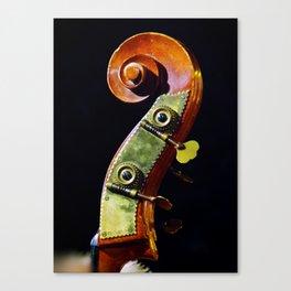 Bass scroll Canvas Print