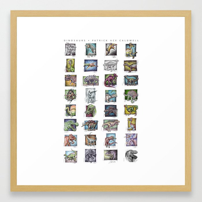 Dinosaurs Compilation Framed Art Print
