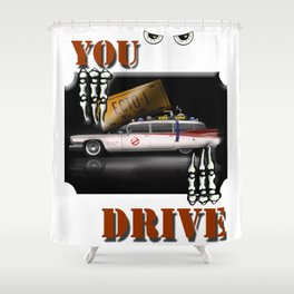 ECTO 1  Car - Cool Ghostbuster Car Shower Curtain