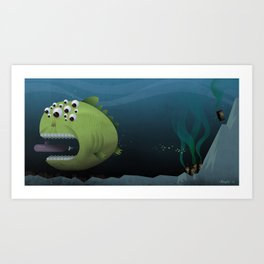 Giant Mutant Fish Art Print