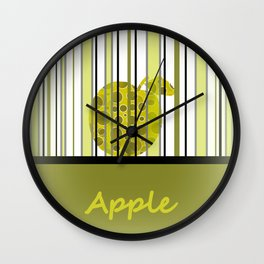 Apple And Stripes Wall Clock
