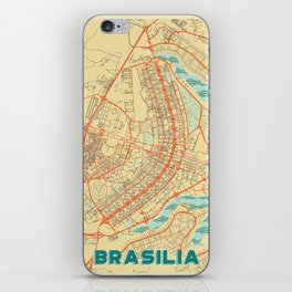 Brasilia Map Retro iPhone Skin