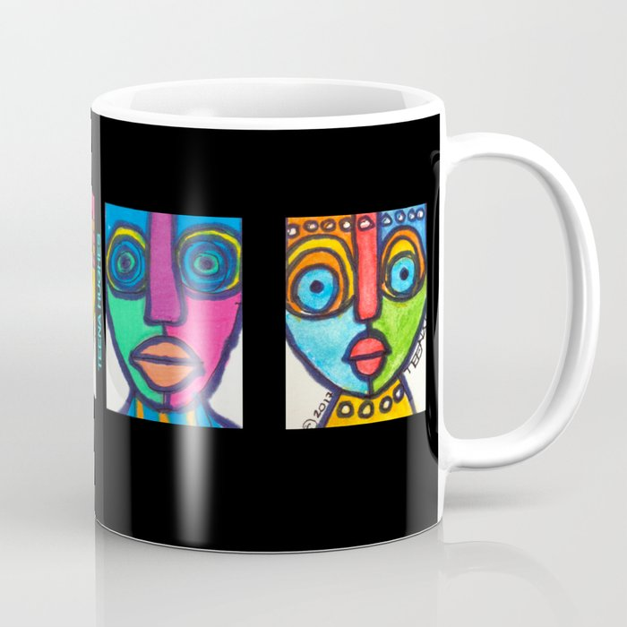 Vibrant Juju Mask #01 Coffee Mug