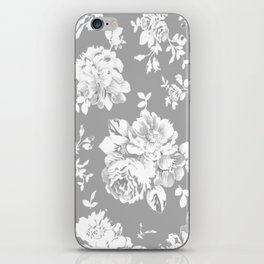 Gothic White Roses iPhone Skin