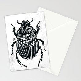 Bug linocut Stationery Cards