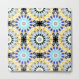 Colorful abstract Ethnic ornament . Metal Print