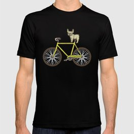 Frenchie on a Fixie T-shirt