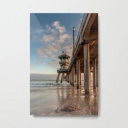 Surf City Golden Hour Metal Print