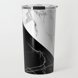 half black half white marble Travel Mug