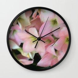 Kalanchoe Flowers Wall Clock